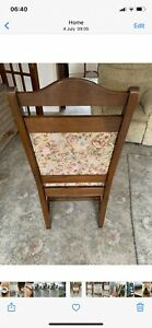 Old Charm, Oak Dining Chairs, set of six, includes two Carver Chairs