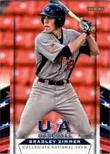 (10) 2013 Team USA Baseball BRADLEY ZIMMER Card LOT #24 Indians QTY