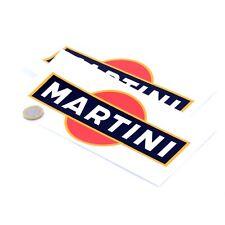 Martini Stickers Classic Car Motorbike Rally F1 Racing Vinyl Decals 200mm x2