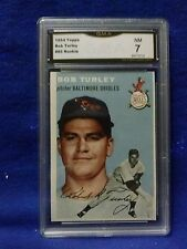 1954 TOPPS#85 BOB TURLEY GREAT ROOKIE CARD CARD GRADE 7 BY GMA