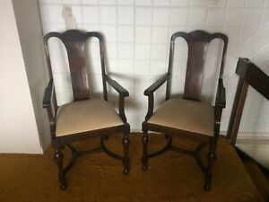 Edwardian Carver Wooden Chairs
