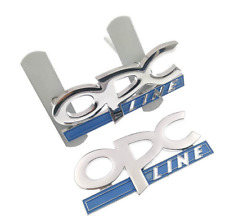 2pc Chrome OPC Line Metal Grille Rear Trunk Emblems Badge Sticker Fit Buick Opel