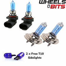 2x h7 & hb3 55w ALOGENE HID XENON GAS Pieno Lampadine Fino al 50% più luminoso BIANCO SUPER