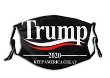 Trump 2020 Keep America Great black FaceMask 3D Respirator Unisex
