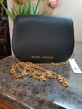 NWT MARC JACOBS M0014787 avenue Black leather medium crossbody bag, MSRP $350