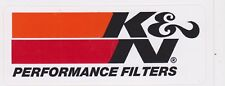 K&N PERFORMANCE BUMPER STICKER DECAL HOT ROD TOOL BOX NASCAR NHRA CAR RACING blk