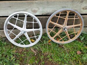 Mongoose MOTOMAG II wheel set - FACTORY FREEWHEEL - old school bmx