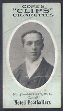 COPE-COPES CLIPS NOTED FOOTBALL 120 BACK-#047- CARDIFF - MORGAN