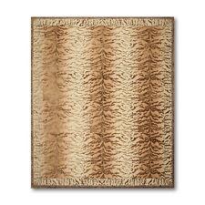 8' x 10' Hand Knotted Tibetan Tiger skin Animal print Wool & Silk area rug Beige