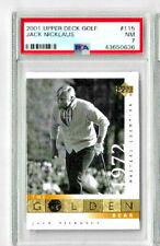 2001 Upper Deck Golf Jack Nicklaus #115 PSA 7