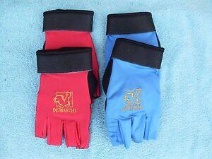 New Gloves Bike half finger De Marchi guanti pro soft gel blue- M red- S