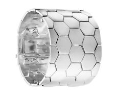 Code Royale Christofle Sterling Silver Wide Bracelet Geometric Modern New