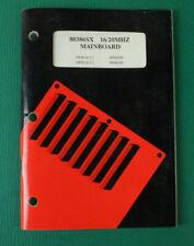 Mainboard 80386SX 16/20MHZ Benutzerhandbuch B-16663