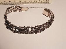 Marcasite & Sterling Silver German Art Deco Bracelet 1930-35