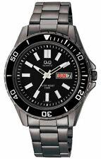 Q&Qby Citizen A172-402Y Men's Analog Watch Black Steel Bracelet NO BOX