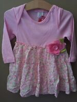 Girls 24 Months Boutique Baby Nay Pink L/S Tiered Dress NEW NWT Floral