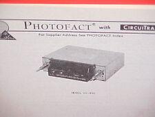 1977 Medallion 8-Track Stereo Tape Player/Am-Fm Radio Service Shop Manual 65-496