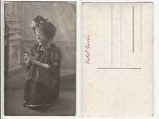 Uomo M. bambola in donne abito Drag Queen CROSS Dresser with Doll RPPC c.1910 gay