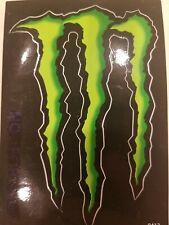 Monster Energy Vinyl Decal Sticker 4-1/4x 3 ORIGINAL  neon green FREE SHIPPING