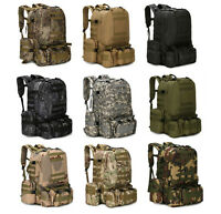 Men's Molle Outdoor Military Tactical Bag Camping Hiking Trekking Backpack New