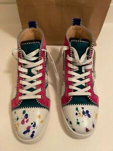 Christian Louboutin Mens 'Love' High Top Graffiti Sneaker Size 44-EUC