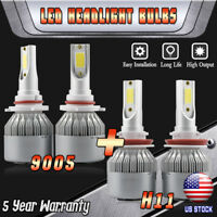 9005 H11 LED Headlight Bulbs for Toyota Camry 2007-2017 Sienna 11-19 Hi/Lo Beam