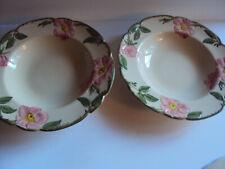 "2 Franciscan Desert Rose Rimmed Soup Bowls ~ 8.5"" ~ Made in California"