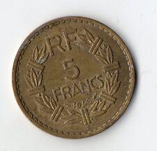 RARE MONNAIE 5 FRANCS LAVRILLIER BRONZE ALUMINIUM DE 1946 C @ PROMOTIONS @ RARE