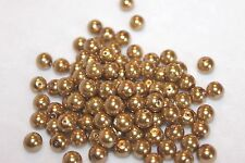 lot of 100 antique gold glass dyed 8mm pearls (5079)