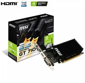 MSI Video Card GeForce GT 710 Low Profile Design PCI Exp 2.0 2GB DDR3 From Japan