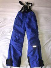 Obermeyer Overall Ski Suit Bibs Pants Juniors 16 Blue Waterproof Insulated