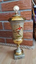 Vintage USSR Russian Soviet Sport Trophy Metal Cup Football