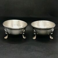 Vintage Gorham American Sterling Silver Triad Footed Salt and Pepper Shaker Bowl