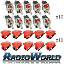 10x Missile Style Toggle Flick Switch 12V ON/OFF Car Light Metal 12 Volt SPST