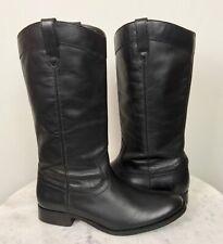 Frye Women's Melissa Boots NWOB Pull on Western Black Leather 3471447 Sz 8