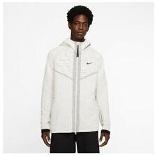 Nike MEN'S Tech Pack Full-Zip Hoodie White Light Bone SIZE MEDIUM BRAND NEW