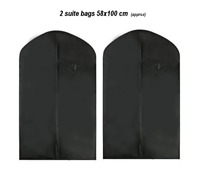 Dress Protector Bags Covers For Wedding Dress Clothes Garments Suits Travel 2pcs