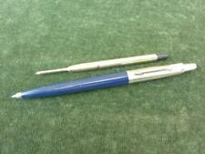 vintage Blue bodied Parker jotter Ballpoint pen good condition 2 inserts