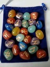 Rune Set 7-Chakra  24 stones with Velvet Draw String Bag