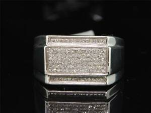 Men's  2.50 CT Diamond Engagement Wedding Pinky Ring Band 14K White Gold Finish