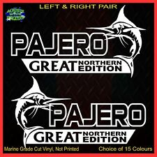 PAJERO stickers accessories Car MX Funny decal GREAT NORTHERN 200mm PAIR