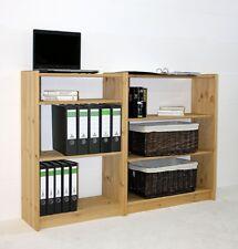 Massivholz Schuh-regal 148x100 Kiefer gelaugt geölt Bücherregal Küchen regale