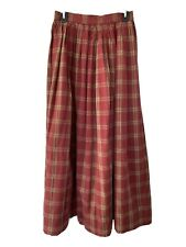 civil war reeactment plaid canvas skirt