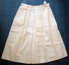 80er vintage Damen Rock 42 Mondi weiß Sommer Knielang skirt white