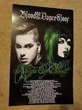 BLOOD ON THE DANCE FLOOR SIGNED HEAVY CARDSTOCK 11x17 TOUR POSTER