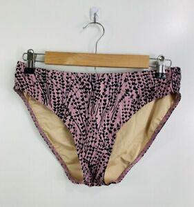 Victoria's Secret Medium Purple Black Floral Bathing Suit Bottoms Swimwear