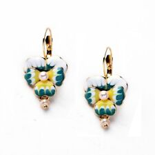 ZARA ENAMEL PEARL DROP EARRINGS