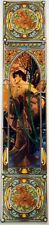 """Evening Reverie 5 Tile (5"""") Panel Mucha Lady Fireplace Mural Hand Decorated UK"""