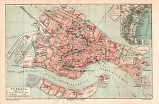 Antique map. ITALY. CITY MAP OF VENICE. c 1905