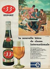 PUBLICITE  BIERE 33 EXPORT  BEER BEAR ALCOHOL  AD  1961